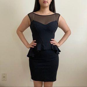 Bebe   Mashed Peplum Little Black Dress